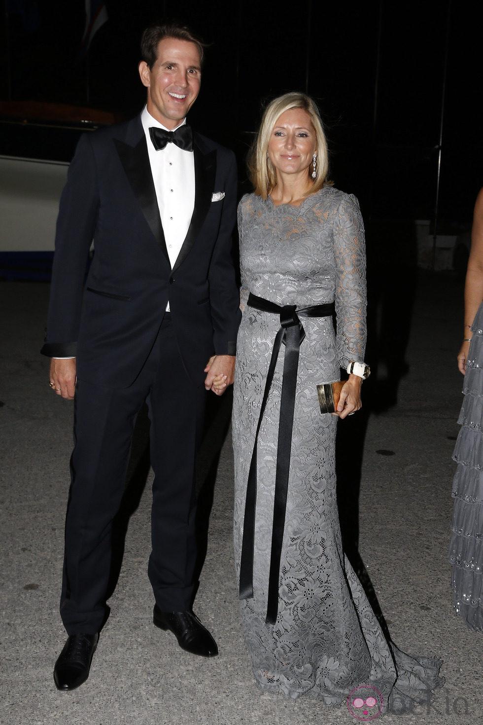 Pablo y Marie Chantal de Grecia en las Bodas de Oro de los Reyes de Grecia