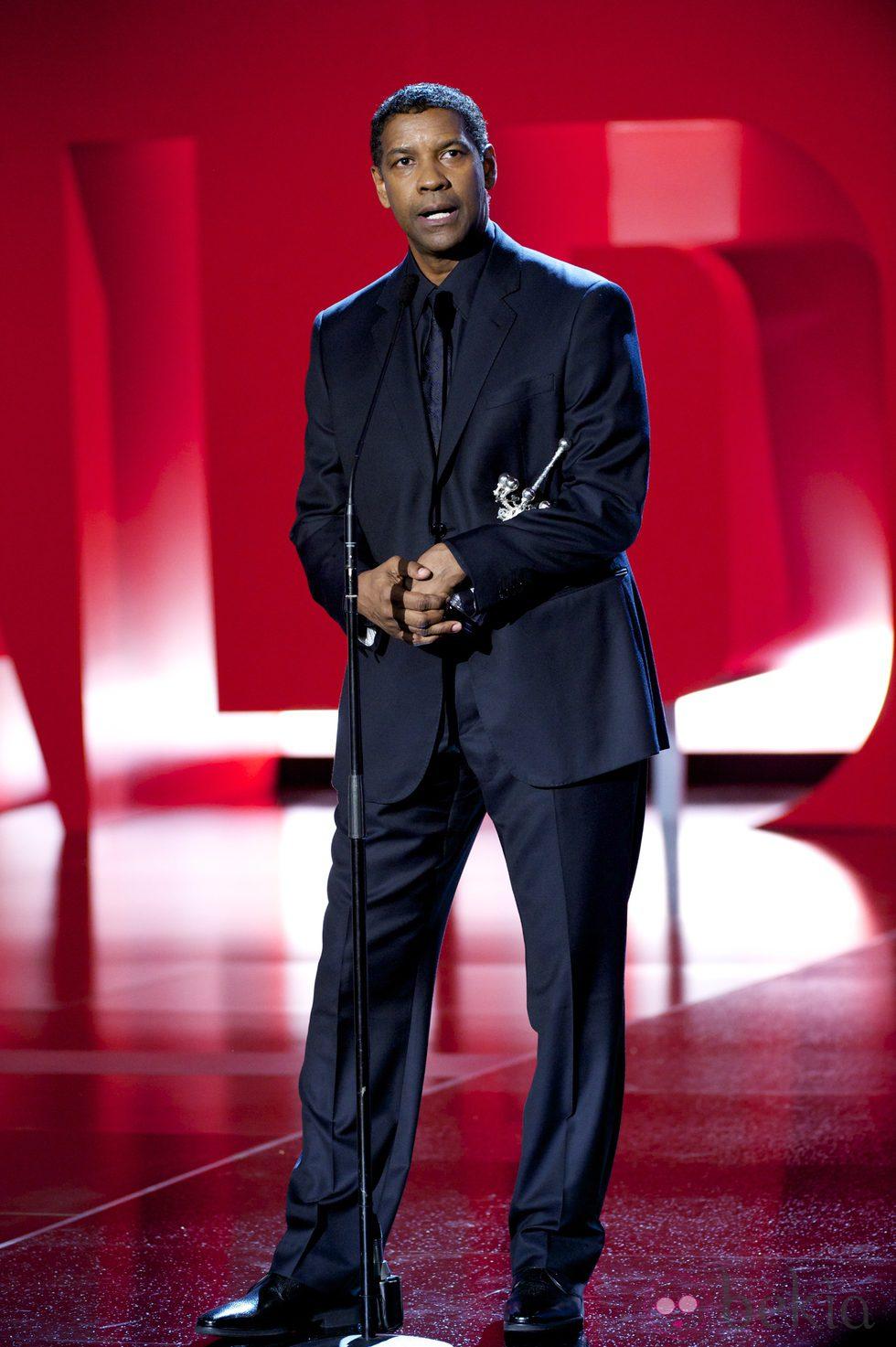Denzel Washington recibe el Premio Donostia en el Festival de San Sebastián 2014