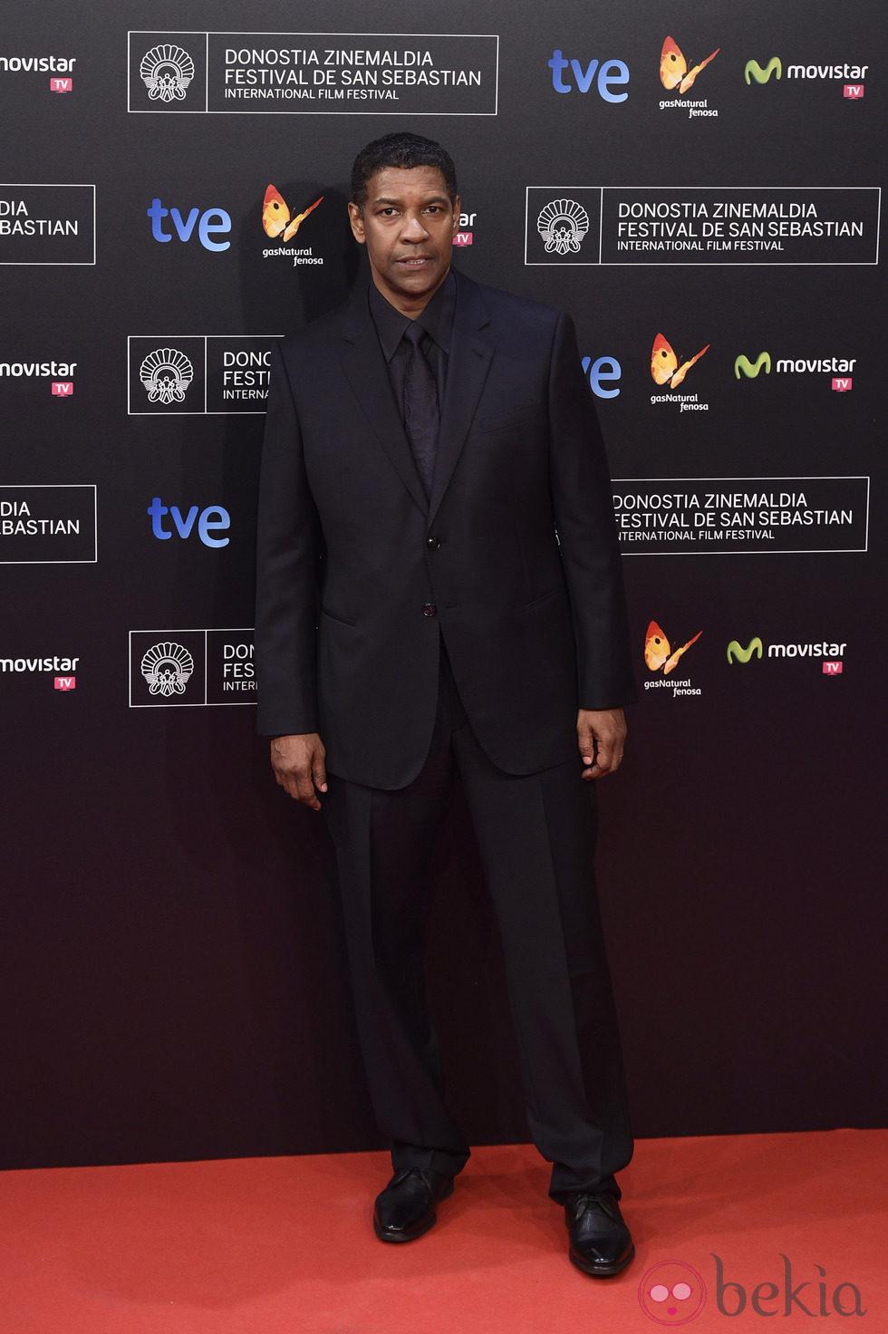 Denzel Washington en la gala inaugural del Festival de San Sebastián 2014