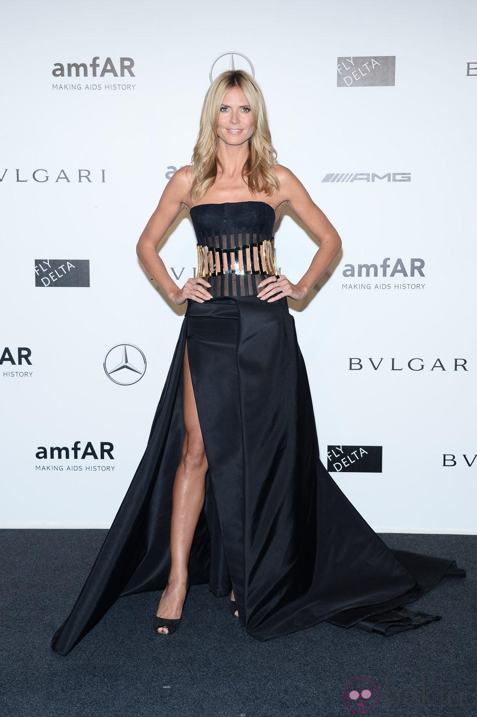 Heidi Klum en la cena benéfica de amfAR durante La Semana de la Moda de Milán 2014