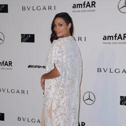 Rosario Dawson en la cena benéfica de amfAR durante La Semana de la Moda de Milán 2014