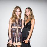 Chiara Ferragni y Candela Novembre en la cena benéfica de amfAR durante La Semana de la Moda de Milán 2014
