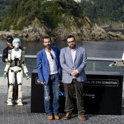 Antonio Banderas y Gabe Ibáñez en el Festival de San Sebastián 2014