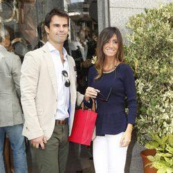 Curi Gallardo y Marta González en la fiesta del 40 cumpleaños de Fiona Ferrer