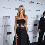 Heidi Klum en la Gala amfAR de Milán 2014