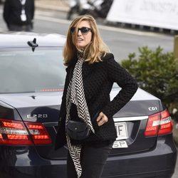 Julie Gayet a su llegada al Festival de San Sebastián 2014