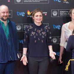 Julie Gayet presenta 'La voz en off' en el Festival de San Sebastián 2014