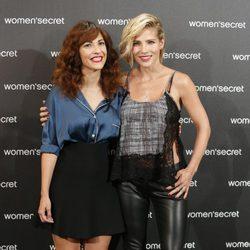 Elsa Pataky y Paula Ortiz en la presentación del Fashion Film de Women'secret 'Dark Seduction'