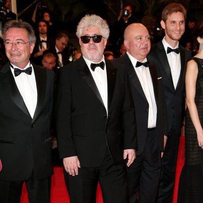 Pedro Almodóvar en el estreno de 'Relatos Salvajes' en el Festival de Cannes 2014