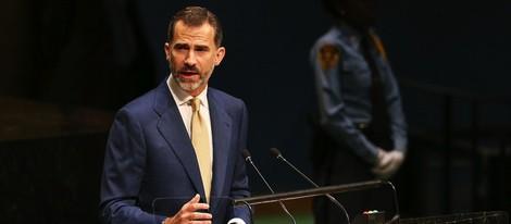 Felipe VI en su primera intervención en la ONU como Rey de España
