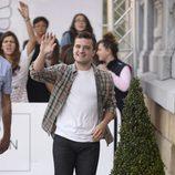 Josh Hutcherson llegando al Festival de San Sebastián 2014