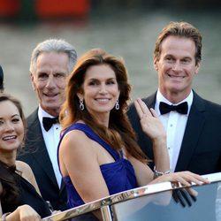 Cindy Crawford y Rande Gerber en la boda de George Clooney y Amal Alamuddin