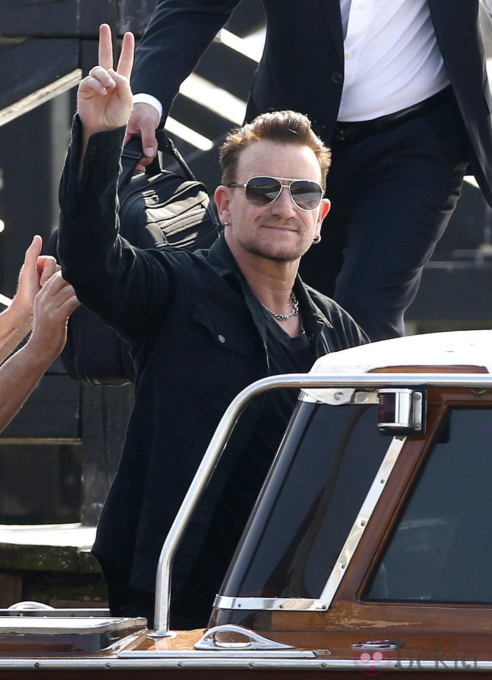 Bono en la boda de George Clooney y Amal Alamuddin