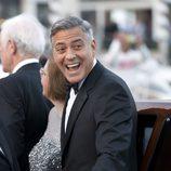 George Clooney el día de su boda en Venecia con Amal Alamuddin