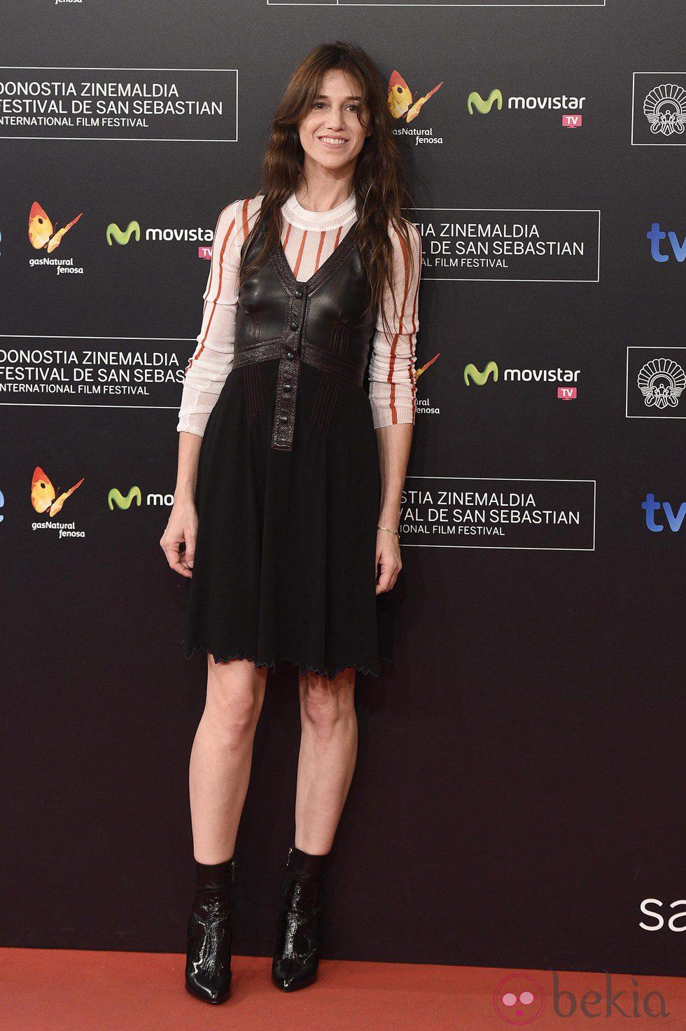 Charlotte Gainsbourg en la gala de clausura del Festival de San Sebastián 2014