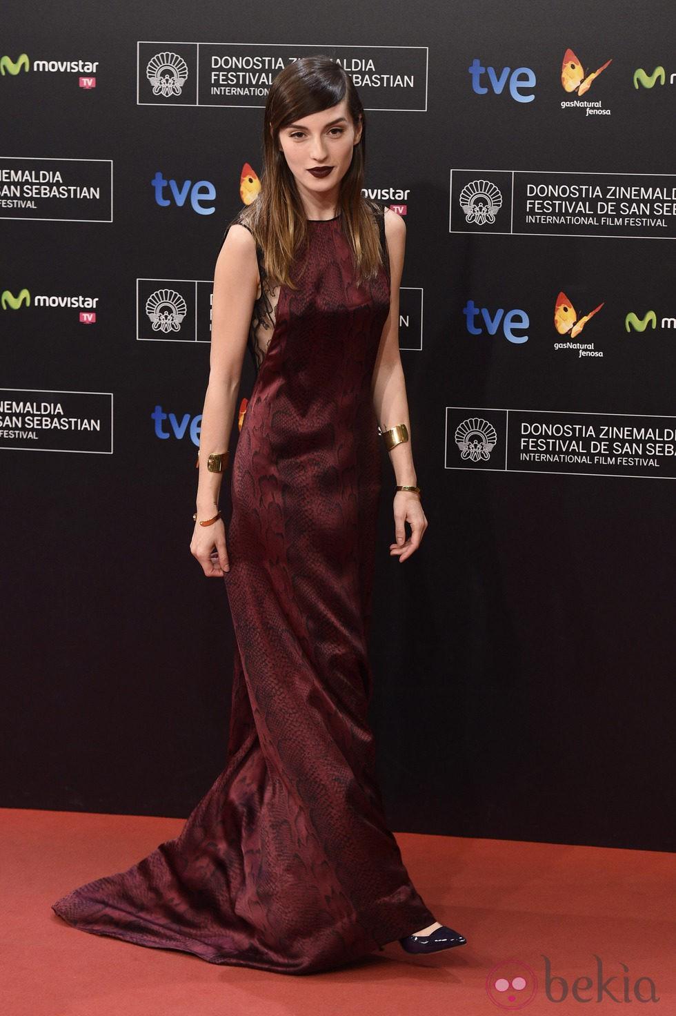María Valverde en la gala de clausura del Festival de San Sebastián 2014