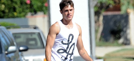 Zac Efron en el set de 'We Are Your Friends'
