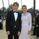 Manuel Díaz 'El Cordobés'  y su mujer Virginia Troconis en los Premios Escaparate de Sevilla