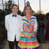 Agatha Ruiz de la Prada y Pedro J Ramirez en los Premios Escaparate de Sevilla
