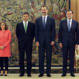Rafael Catalá junto al Rey Felipe VI, a Mariano Rajoy y a Soraya Sáenz de Santamaría
