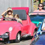 Heidi Klum y Vito Schnabel disfrutan en Disneyland junto a los pequeños Johan y Leni