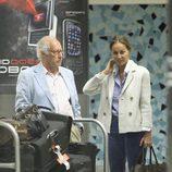 Miguel Boyer e Isabel Preysler en el aeropuerto de Miami