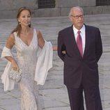 Isabel Preysler y Miguel Boyer en la boda de Ana Aznar y Alejandro Agag