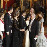 Isabel Preysler y Miguel Boyer con la Familia Real Española