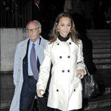 Isabel Preysler y Miguel Boyer en un funeral en 2008