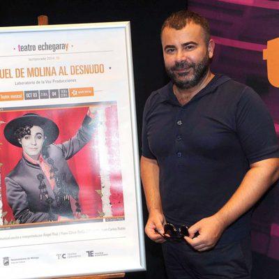 Jorge Javier Vázquez en la presentación de su obra teatral 'Miguel de Molina al desnudo'