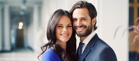 Foto oficial de Carlos Felipe de Suecia y Sofia Hellqvist