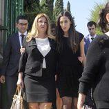 Laura Boyer y Tamara Falcó en el funeral de Miguel Boyer