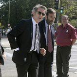 Alfonso Díez en el funeral de Miguel Boyer