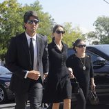 Fernando Verdasco e Isabel Preysler en el funeral de Miguel Boyer