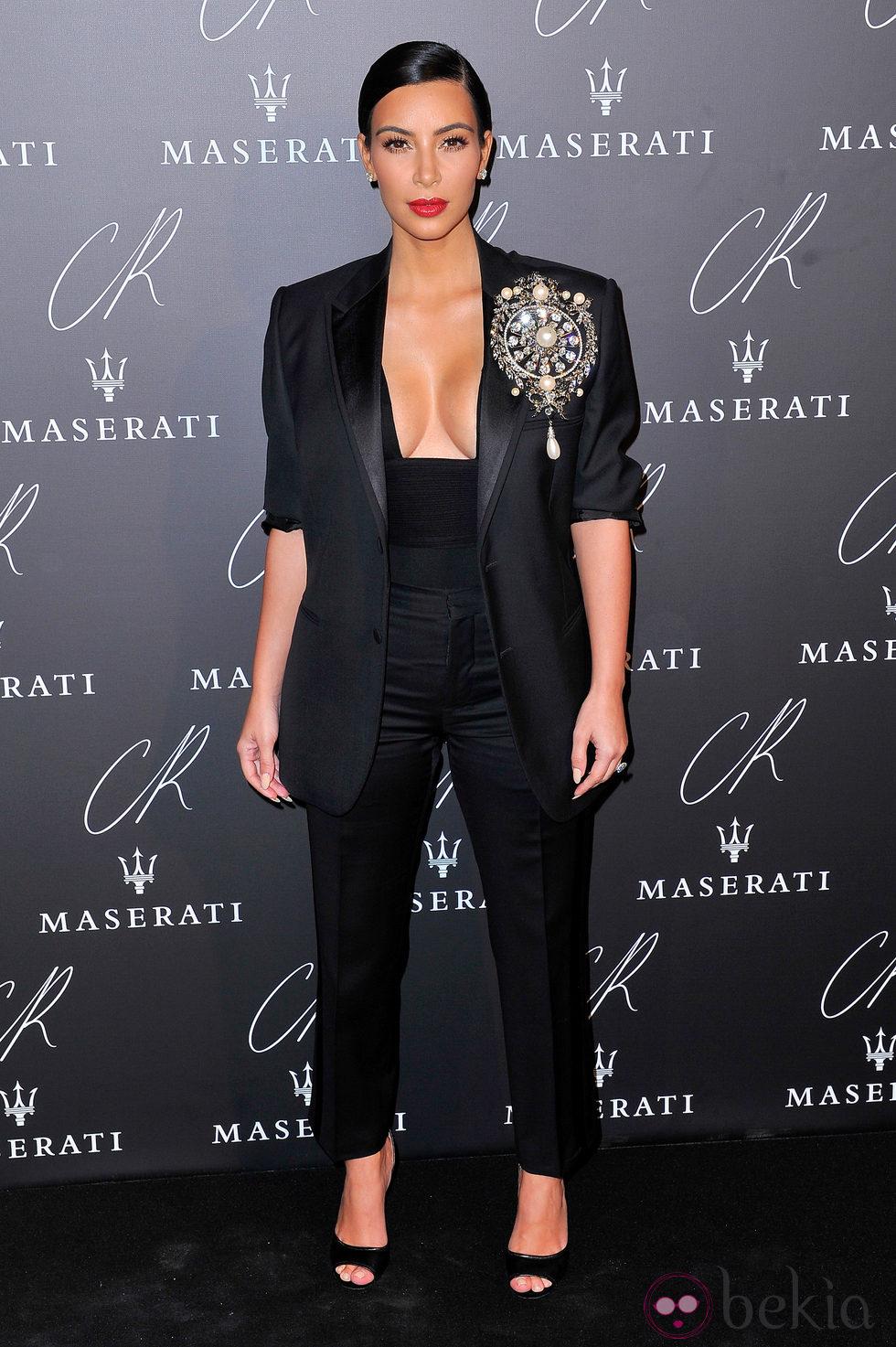 Kim Kardashian en una fiesta organizada en el marco de la Paris Fashion Week