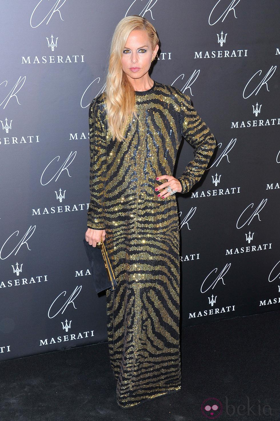 Rachel Zoe en una fiesta organizada en el marco de la Paris Fashion Week