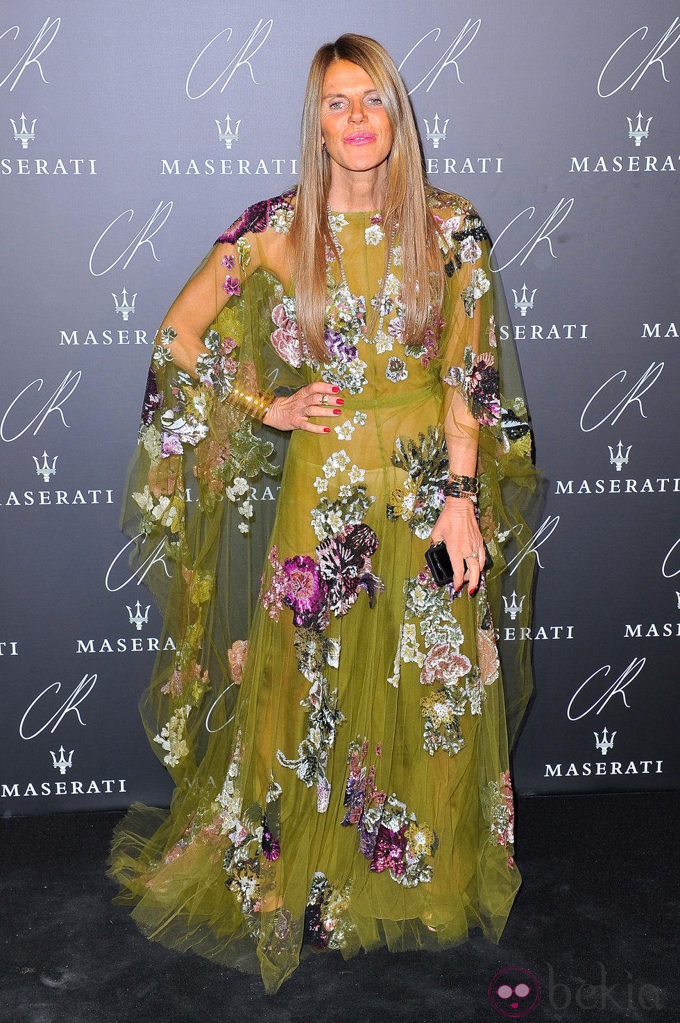 Anna Dello Russo en una fiesta organizada en el marco de la Paris Fashion Week