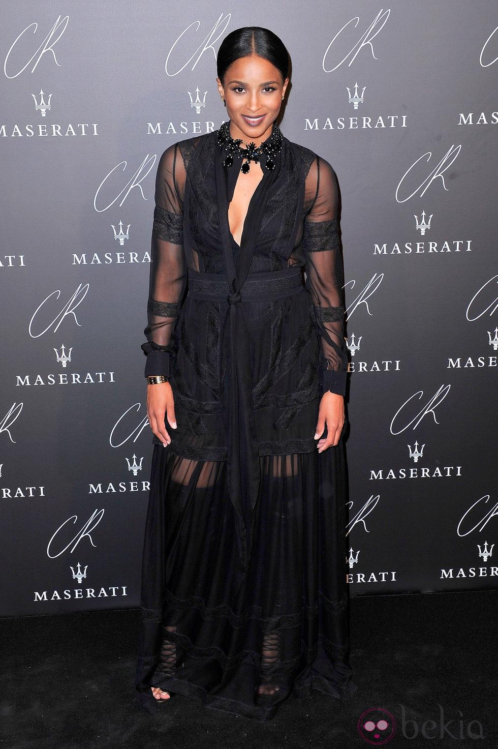 Ciara en una fiesta organizada en el marco de la Paris Fashion Week