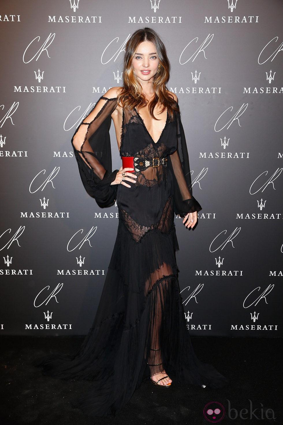 Miranda Kerr en una fiesta organizada en el marco de la Paris Fashion Week