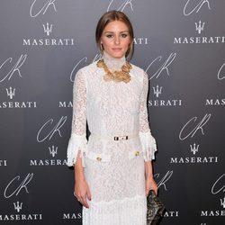 Olivia Palermo en una fiesta organizada en el marco de la Paris Fashion Week