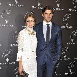 Olivia Palermo y Johannes Huebl en una fiesta organizada en el marco de la Paris Fashion Week
