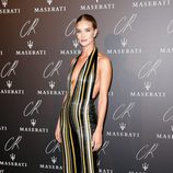 Rosie Huntington Whiteley en una fiesta organizada en el marco de la Paris Fashion Week
