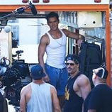 Channing Tatum, Joe Manganiello y Matt Bomer en el rodaje de 'Magic Mike XXL' en Savannh