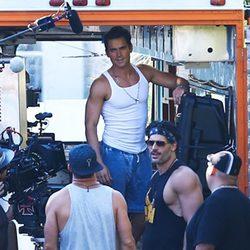 Channing Tatum, Joe Manganiello y Matt Bomer en el rodaje de 'Magic Mike XXL' en Savannh