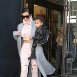 Kim Kardashian y North West dejan París tras la Fashion Week
