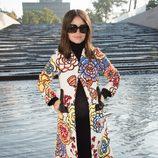 Miroslava Duma en el desfile de Louis Vuitton en la Semana de la Moda de París primavera/verano 2015