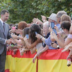 El Rey Felipe saluda a los ciudadanos de Zafra