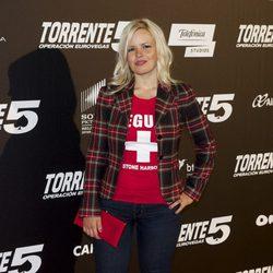 Lluvia Rojo en el estreno de 'Torrente 5: Operación Eurovegas'