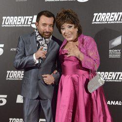 José Manuel Parada y Mari Carmen en el estreno de 'Torrente 5: Operación Eurovegas'