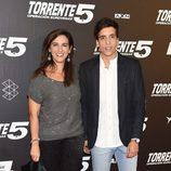Llum Barrera y Xuso Jones en el estreno de 'Torrente 5: Operación Eurovegas'
